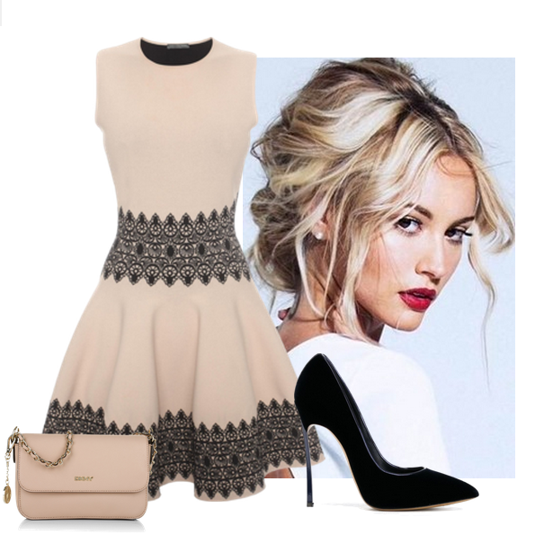 mini vestido de Alexander McQueen