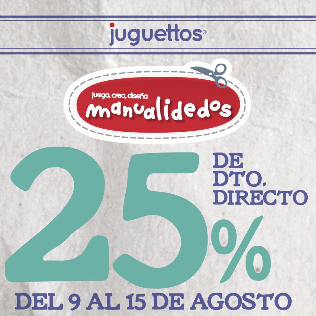 25% de descuento en la marca Manualidedos de Juguettos